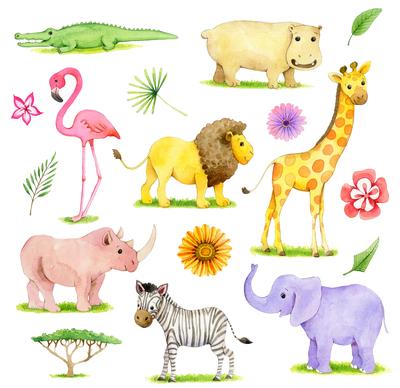 corke-safari-zebra-elephant-giraffe-rhino-flamingo-hippo-crocodile-lion-jpg