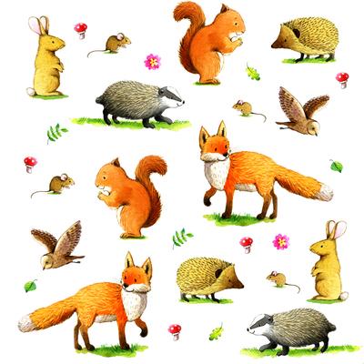 corke-woodland-fox-badger-rabbit-hedgehog-owl-squirrel-mouse-greetings-jpg