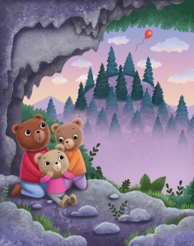 bears-in-a-cave-png
