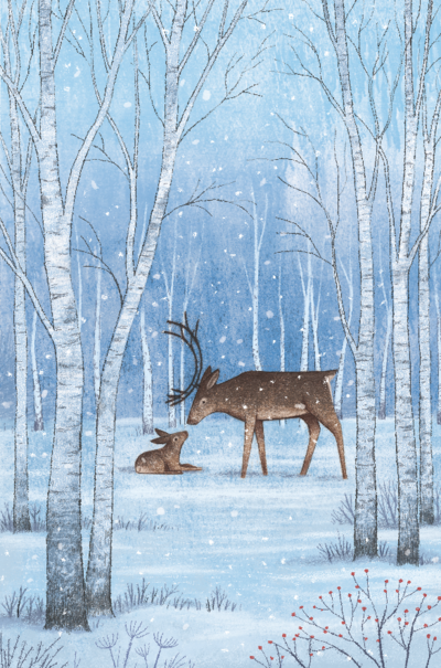 reindeers-in-the-snow-png
