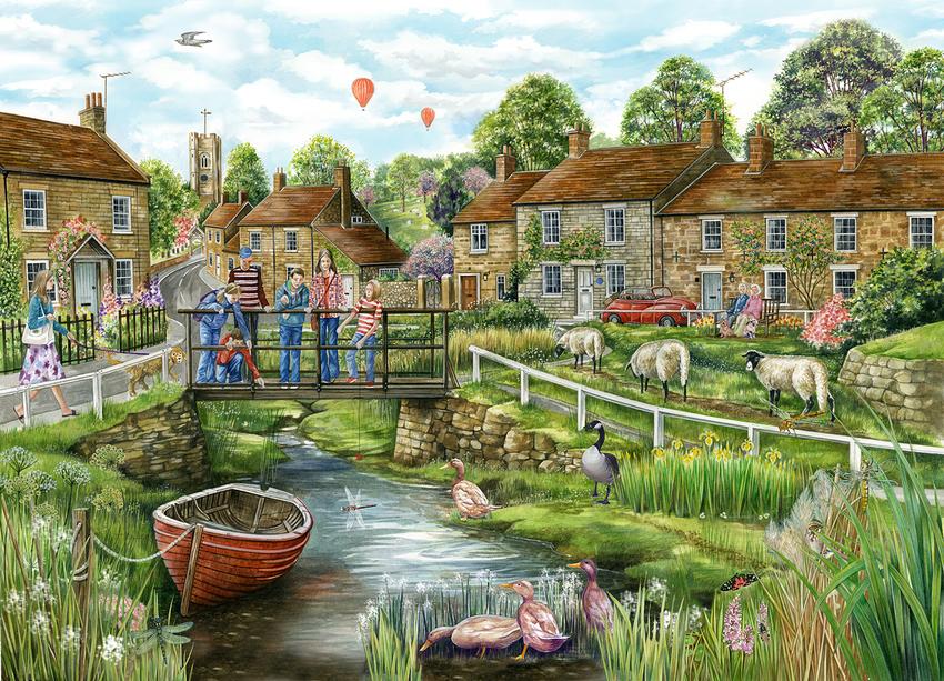 Village with Boat Jigsaw.jpg