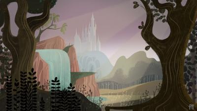 castle-forest-flowers-trees-jpg