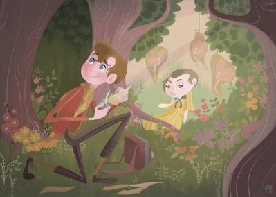 girl-boy-children-forest-flower-jpg