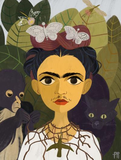 woman-portrait-jungle-monkey-panther-jpg