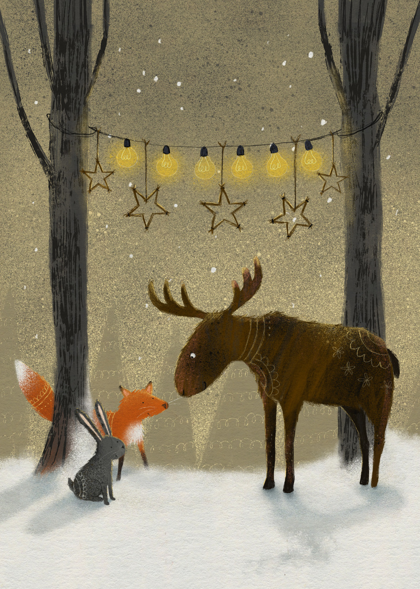 claire keay animals christmas forest lights.jpg