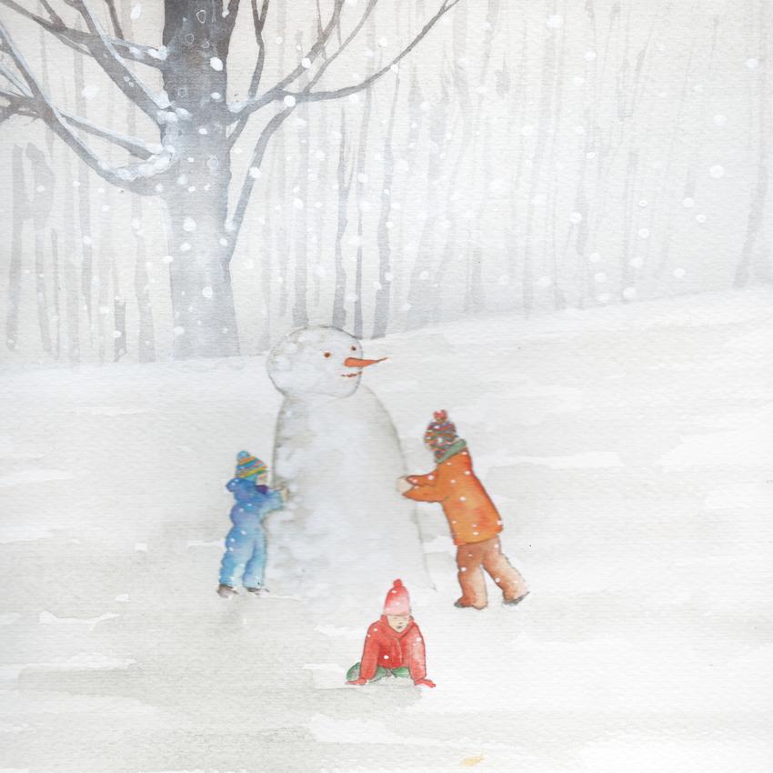 family snow christmas snowman.jpg