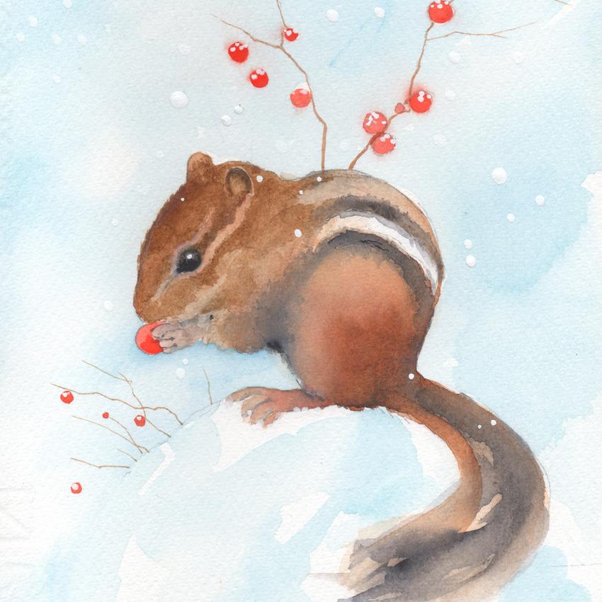 red berries snow christmas chipmunk.jpg