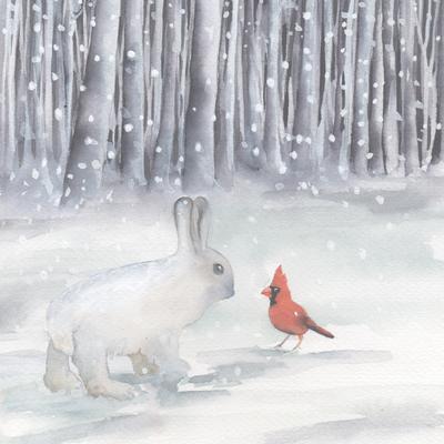 snowshoe-hare-and-cardinal-snow-christmas-american-animalsl-jpg