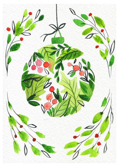 christmas-bauble-watercolour-loose-foliage-green-red-jpg