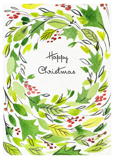 christmas-wreath-watercolour-loose-foliage-green-red-jpg