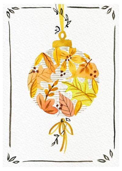 gold-yellow-bauble-handpainted-watercolour-jpg