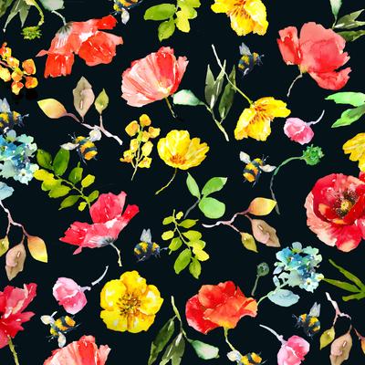 buttercups-poppys-bees-pattern-floral-jpg
