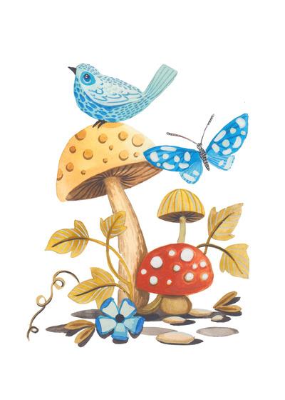 butterfly-mushroom-bird-gouache-watercolor-jpg