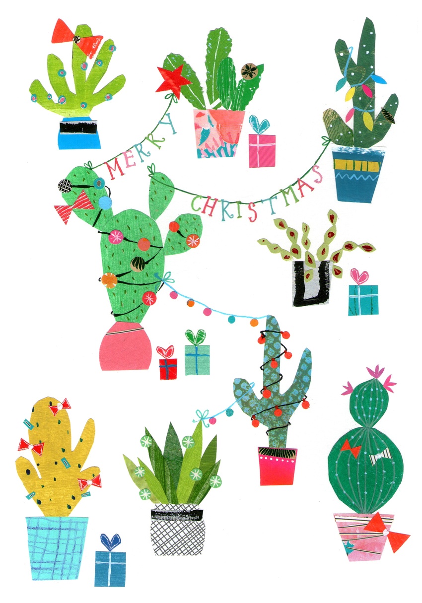 L&K Pope - Brand New Xmas Cactus art - Rainbow Brite.jpg