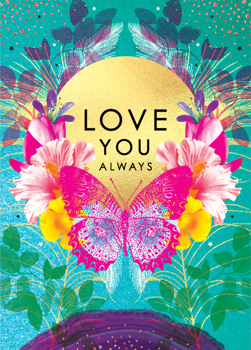 valentines day anniversary love wife partner girlfriend colourful floral sun with butterfly.jpg