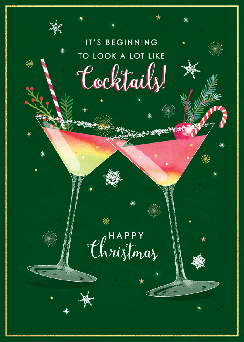 christmas cocktails humour gold glitter foil festive cocktails with snow.jpg