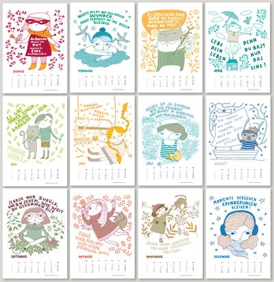 calendar-illustration-motivational-sayings-in-german-lettering-girl-cat-boy-bunny-maritim-flowers-jpg