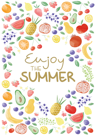 healthy-fruit-poster-enjoy-the-summer-watercolor-style-jpg