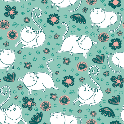 pattern-animal-cat-running-and-playing-on-a-flower-meadow-jpg