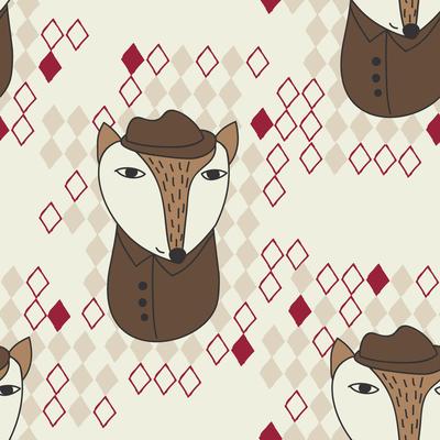 pattern-animals-fox-detective-with-rhombuses-jpg