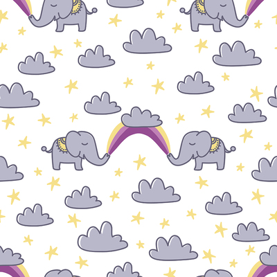 pattern-baby-elephant-couple-with-rainbow-and-clouds-stars-jpg