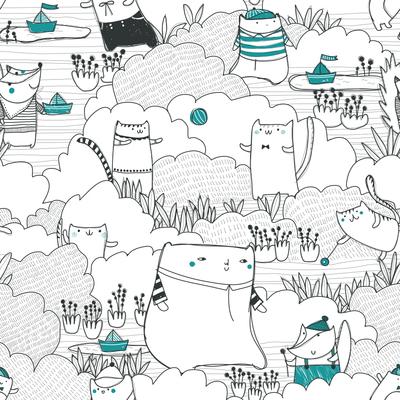 pattern-bear-fox-cat-in-field-garden-in-nature-jpg