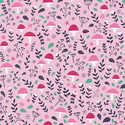 pattern-fairies-mushrooms-branches-leaves-pink-green-jpg