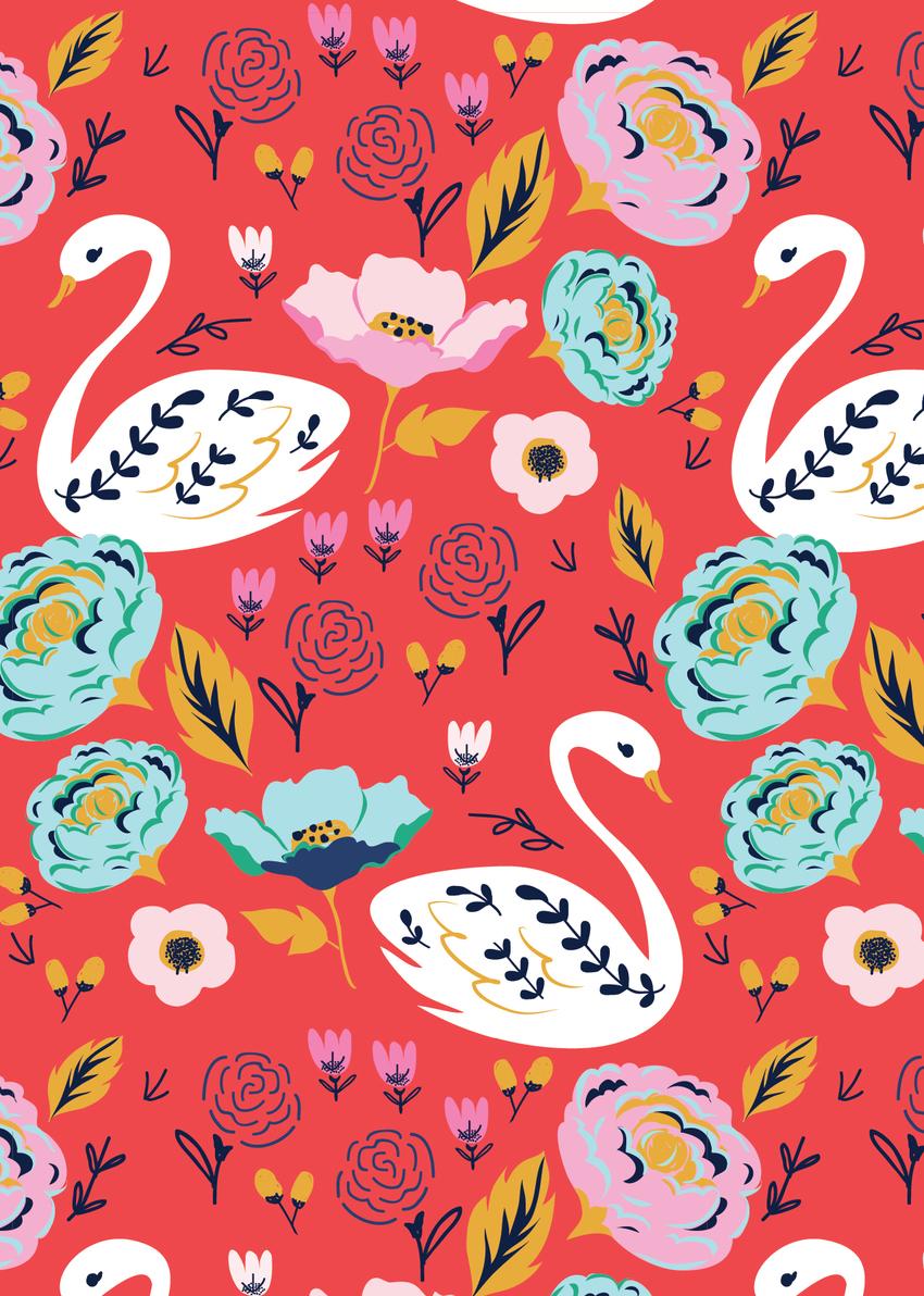bold_floral_swan_pattern_red-01.jpg