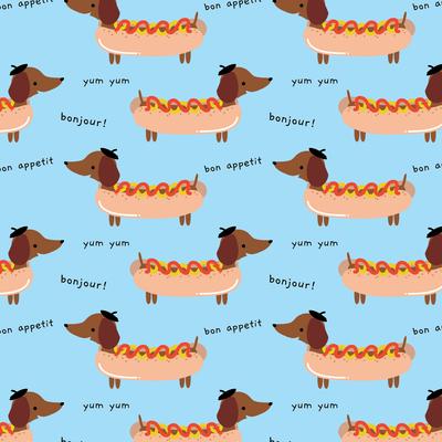 bonjour-dog-sausage-hotdog-fun-pattern-01-jpg