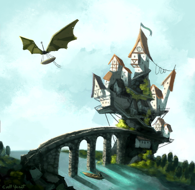 concept-art-fantasy-town-village-sea-bridge-fantastic-boat-jpg