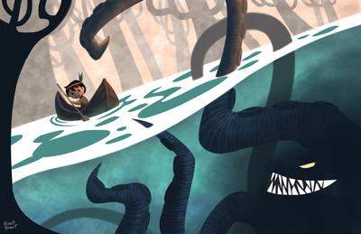 concept-monster-sea-lake-child-kid-boat-adventure-sail-indian-native-tribe-1-jpg
