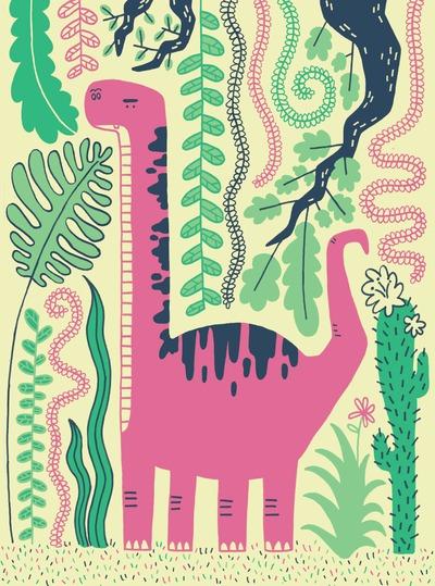 dinosaur-plants-pink-green-prehistory-jpg