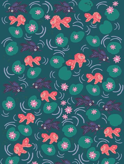 rachaelschafer-goldfish-waterlillies-pond-jpg