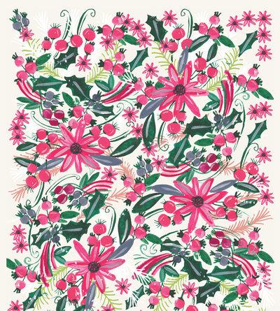 rachaelschafer-holiday-christmas-painted-flowers-florals-pinkflowers-redflowers-jpg