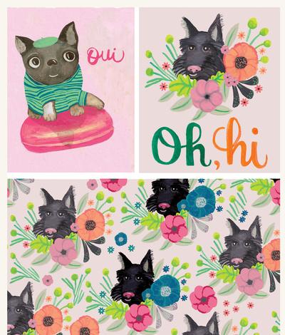 rachaelschafer-lettering-oui-scottydog-frenchbulldog-macaron-flowers-jpg