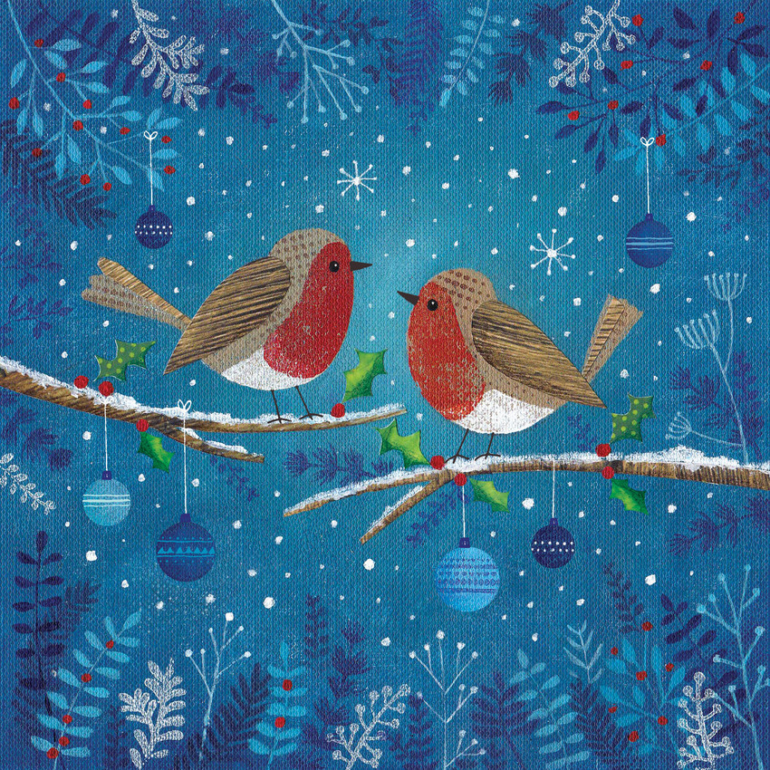 Joanne Cave Christmas robins on branch.jpg