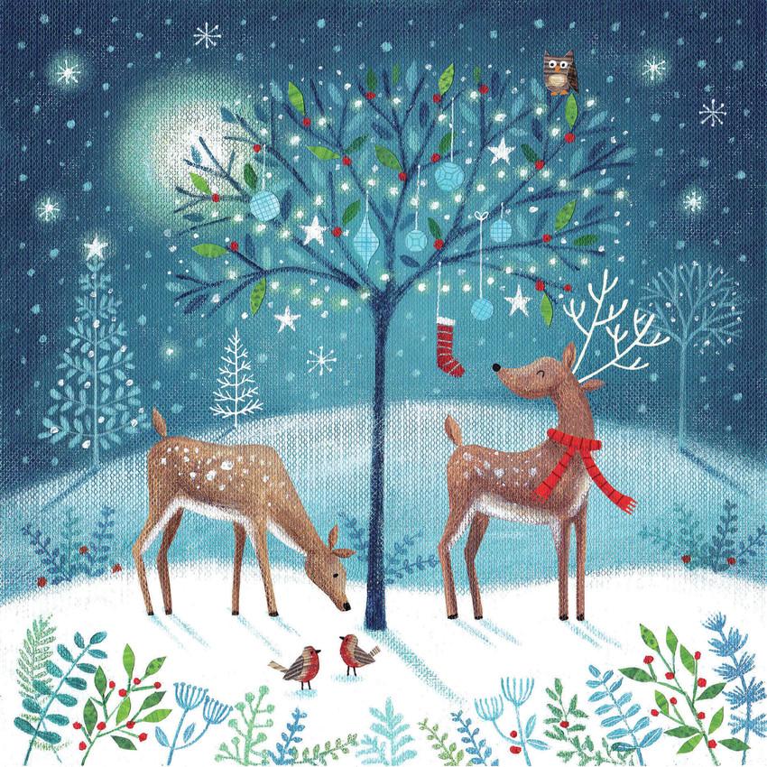 Joanne Cave Magical Christmas tree and reindeer.jpg