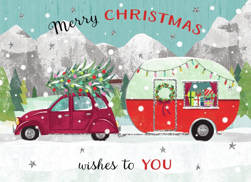 Claire McElfatrick Christmas caravan and car.jpg