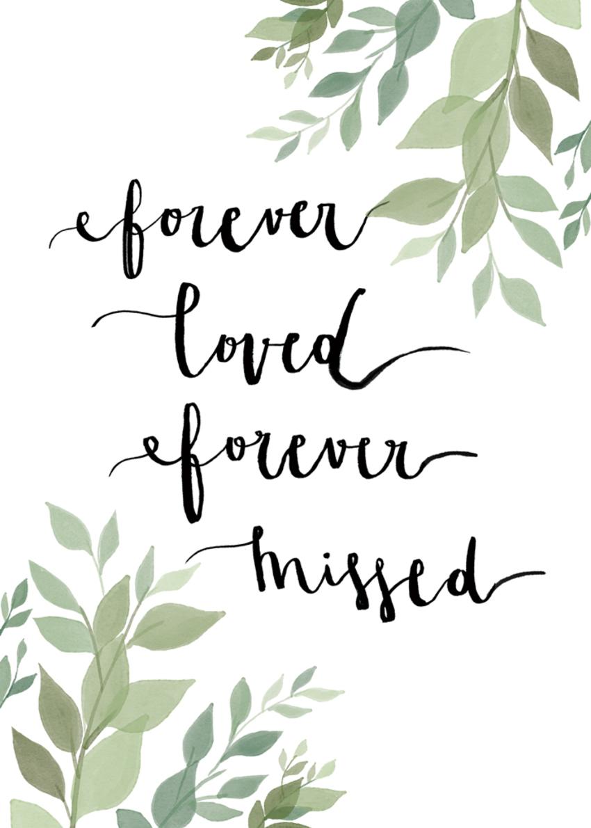 Gina Maldonado - Forever loved, sympathy card.jpg