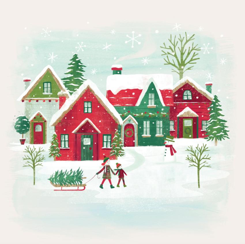 Claire McElfatrick Christmas houses scene1.jpg