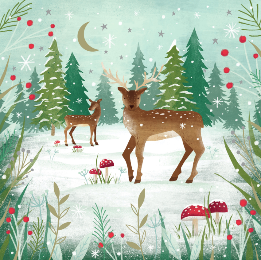 Claire McElfatrick Deer forest scene 1.jpg