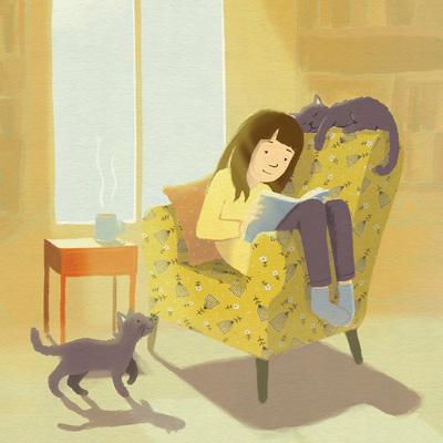 claire-keay-girl-sunshine-chair-cats-jpg