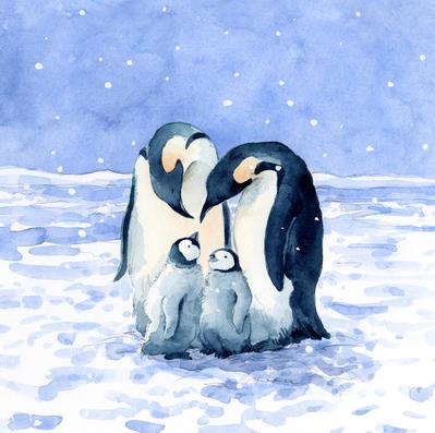 estelle-corke-penguin-family-snow-christmas-cute-jpg