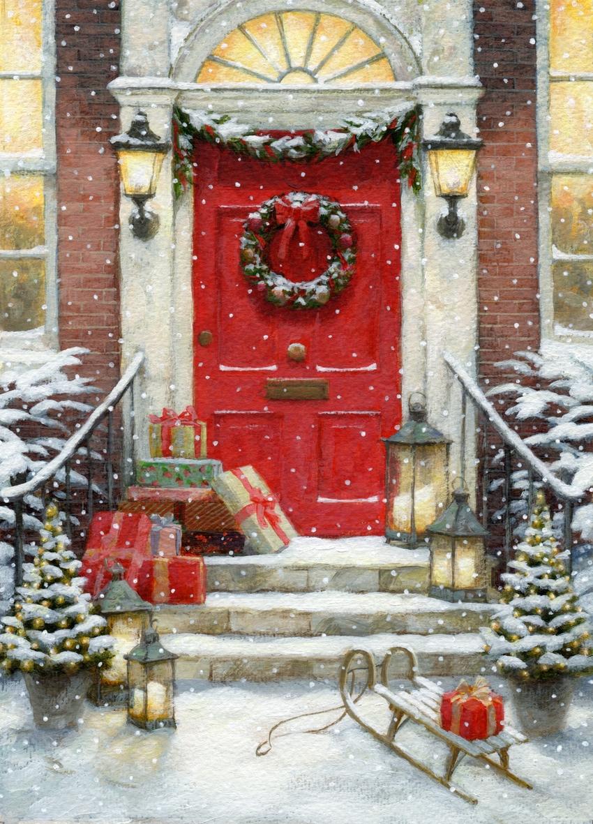 Daniels R. - Christmas Red Door 2018 christmas_red door_snow_presents.jpg