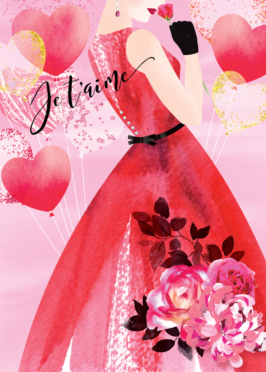 valentines day female birthday anniversary love wife partner girlfriend lady in red dress with balloons.jpg