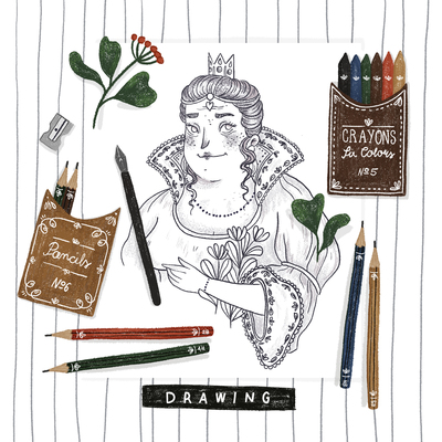 d-is-for-drawing-queen-pencils-blackandwhite-colors-plants-jpg