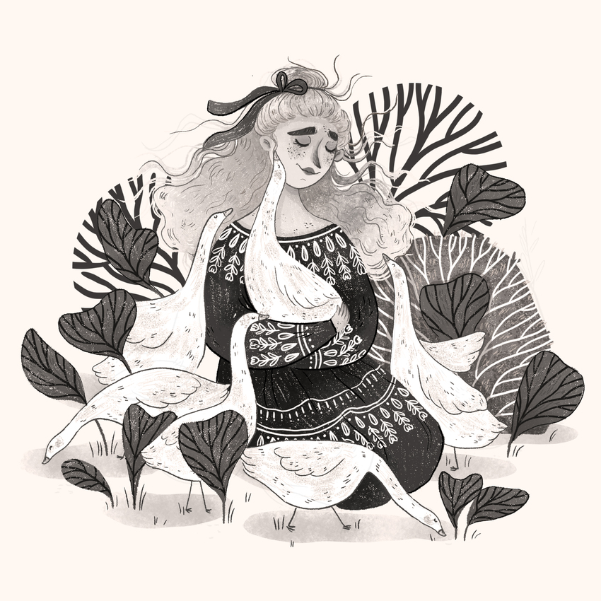 FOLKTALEWEEK - ANIMAL_girl_animal_goose_nature_cute_dress.jpg