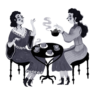inktober-tea-time-friends-girls-talking-tea-coffee-chat-jpg