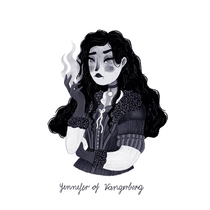 INKTOBER - YENNEFER_woman_pretty_sorceress_flames_witcher3.jpg