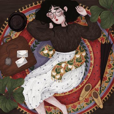 sophia-01-rug-woman-suitcase-sleeping-travel-jpg